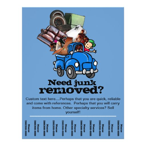 Full color printing company - Junk Or Garbage Removal Business Promo Flyer Templ Zazzle