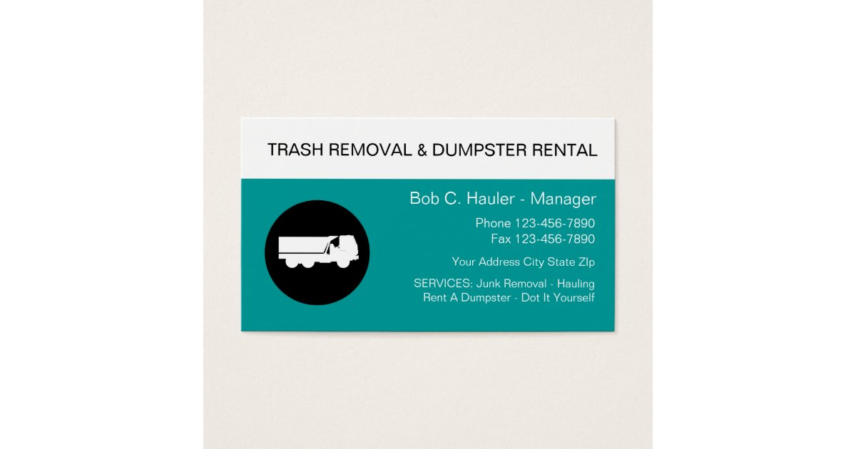 Hauling Business Cards & Templates | Zazzle
