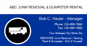 Junk removal business cards zazzle junk removal business cards colourmoves