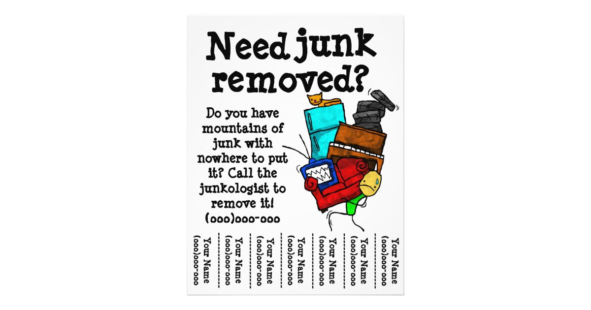 Junk Removal Flyer Zazzle Com