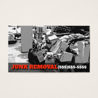 Junk Removal Garbage Hauling Truck Business Promo Business Card