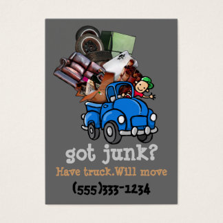 Junk Removal Hauling business promotion Business Card