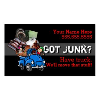 Junk removal.Hauling.Garbage.Promotional