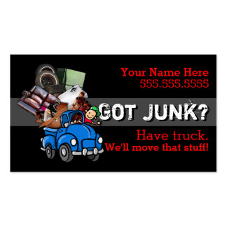 Junk removal.Hauling.Garbage.Promotional Double-Sided Standard Business Cards (Pack Of 100)