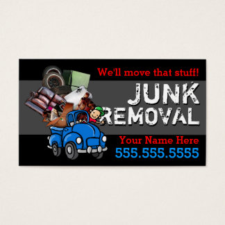 Junk Removal.Hauling.Got Junk.Customizable text Business Card
