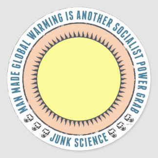 Junk Science Power Grab Classic Round Sticker