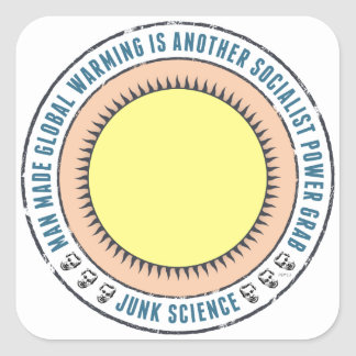 Junk Science Power Grab Square Sticker