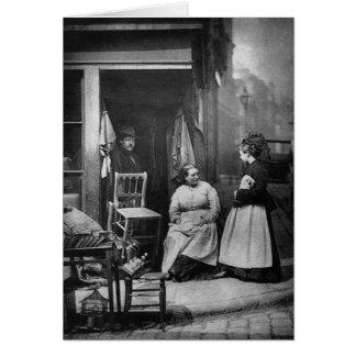 Junk Shop in London - Vintage 1876 Photo Card