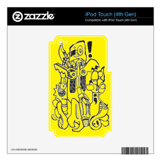 Junk / Spare-parts Clunky Robot Character iPod Touch 4G Skin