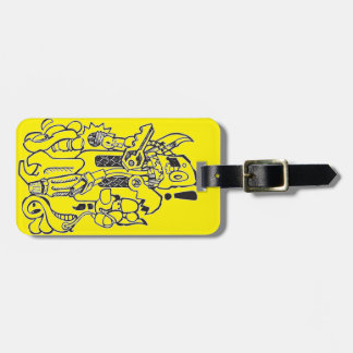 Junk / Spare-parts Clunky Robot Character Luggage Tag