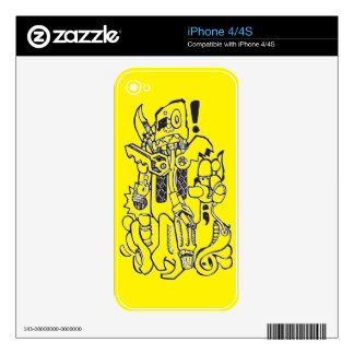 Junk / Spare-parts Clunky Robot Character Skin For iPhone 4