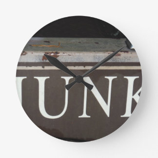 Junk Vintage tow truck sign Wall Clock