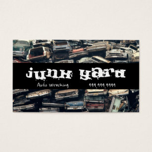 Recycle metal business cards templates zazzle junk yard auto wrecking removal recycling metal business card reheart Gallery