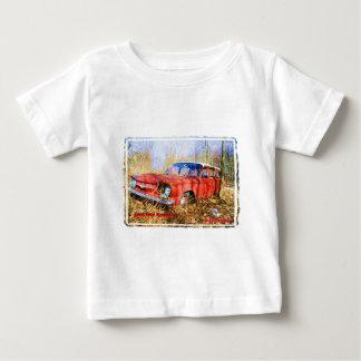 Junk Yard Memories Red Corvair Station Wag Baby T-Shirt