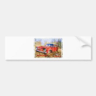 Junk Yard Memories Red Corvair Station Wag Bumper Sticker