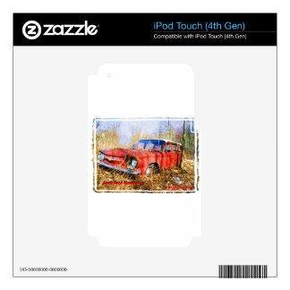 Junk Yard Memories Red Corvair Station Wag Skin For iPod Touch 4G