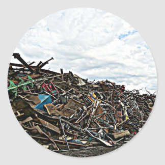 Junk Yard Scrap Metal at Depot Classic Round Sticker