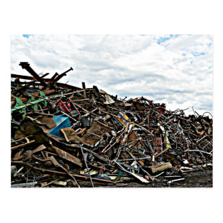 Junk Yard Scrap Metal at Depot Postcard