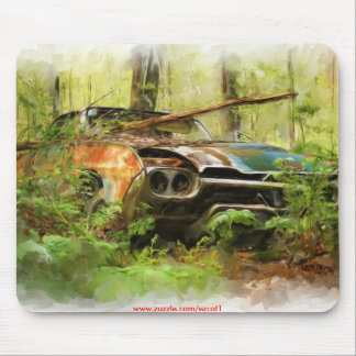Junked Old T-Bird Mouse Pad