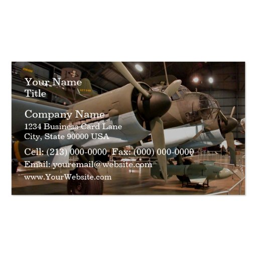 Junkers in museum Double-Sided standard business cards (Pack of 100)
