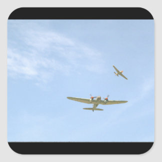 Junkers JU88 In Air, From Below_WWII Planes Square Sticker