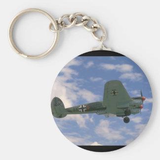Junkers JU88 In Flight. (plane;ju88_WWII Planes Keychain