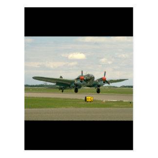 Junkers JU88 On Runway._WWII Planes Postcard