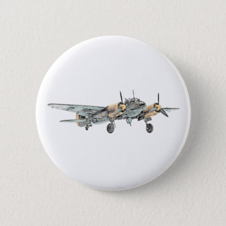 Junkers Ju 88 Bomber Airplane Pinback Button