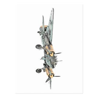 Junkers Ju 88 Bomber Airplane Post Card