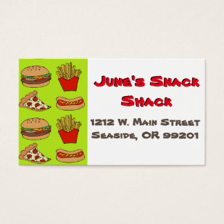 Junkfood business card