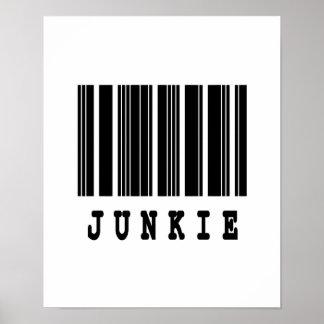 junkie barcode design poster