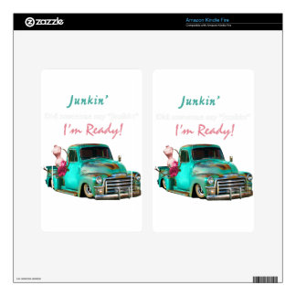 Junkin-1 Decal For Kindle Fire