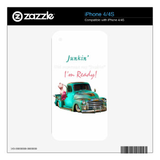 Junkin-1 Decals For iPhone 4