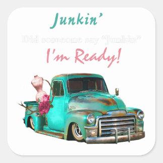 Junkin-1 Square Sticker
