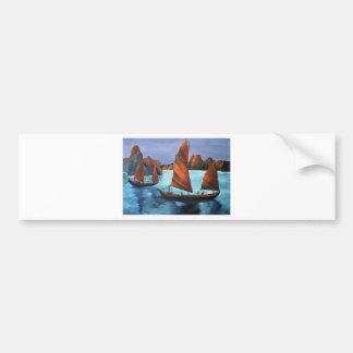 Junks In The Descending Dragon Bay Bumper Sticker
