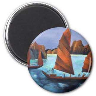 Junks In The Descending Dragon Bay Magnets
