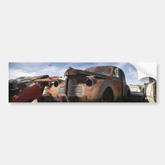 Junkyard Art with F86 saber over fight Bumper Sticker