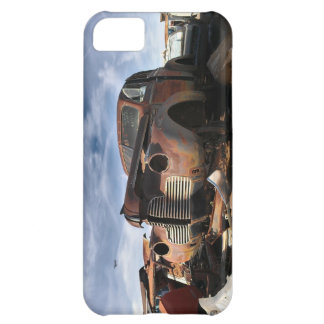 Junkyard Art with F86 saber over fight iPhone 5C Cover