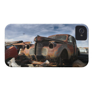 Junkyard Art with F86 saber over fight iPhone 4 Cover
