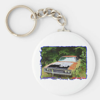 JunkYard Charger Blues Basic Round Button Keychain