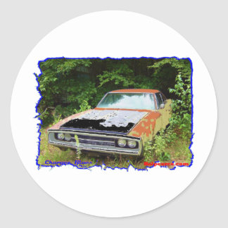 JunkYard Charger Blues Classic Round Sticker