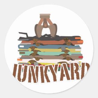 Junkyard Classic Round Sticker