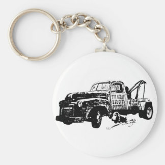 Junkyard Dog W Basic Round Button Keychain