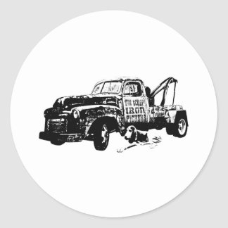 Junkyard Dog W Classic Round Sticker