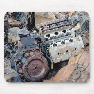 Junkyard Engines Mouse Pad