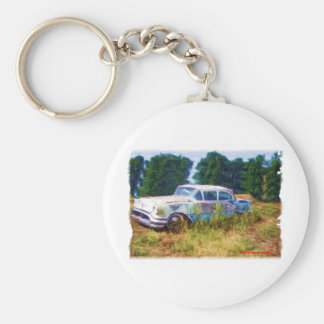 JunkYard Oldsmobile Blues Basic Round Button Keychain