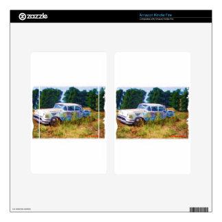 JunkYard Oldsmobile Blues Skin For Kindle Fire