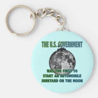 JUNKYARD ON THE MOON BASIC ROUND BUTTON KEYCHAIN