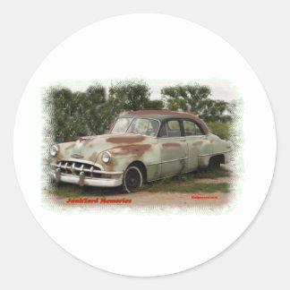 Junkyard Ponatic Memories Classic Round Sticker