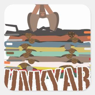 Junkyard Square Sticker
